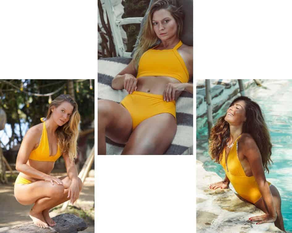 three models wearing UBU swimwear