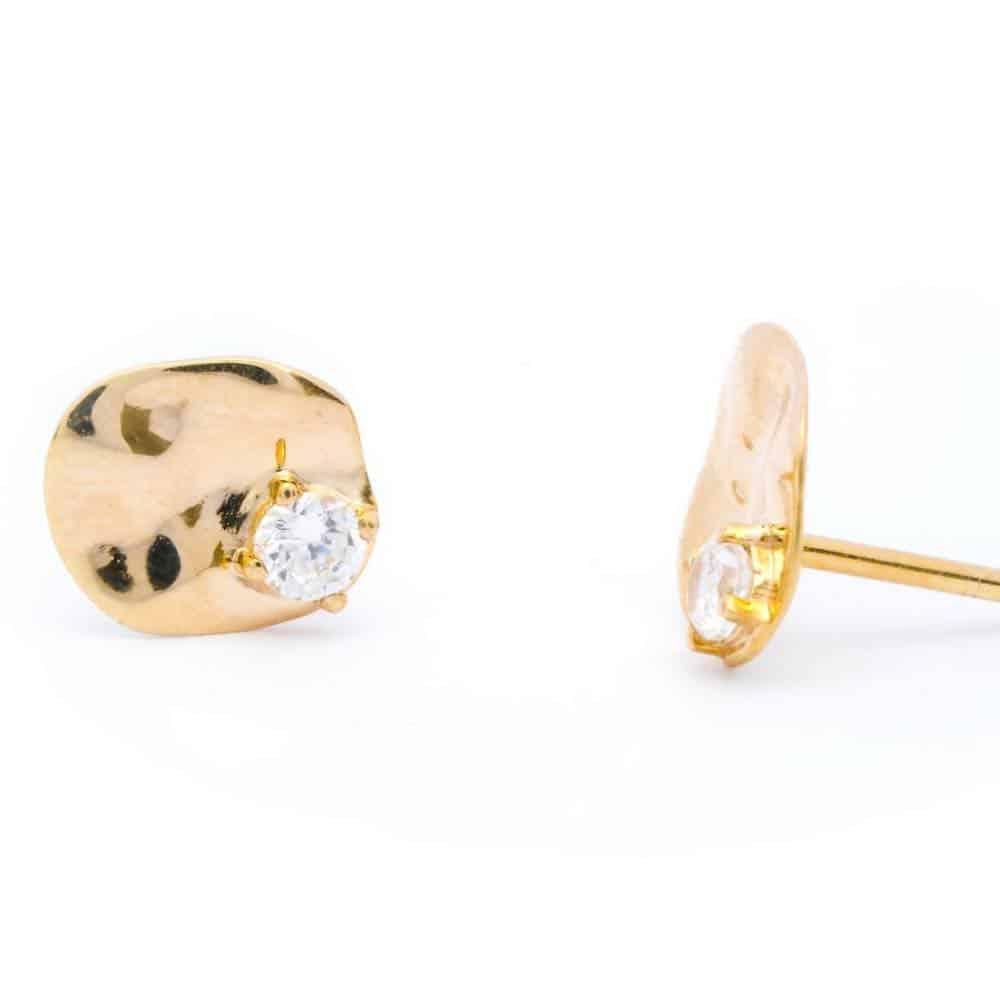 Sceona gold earrings