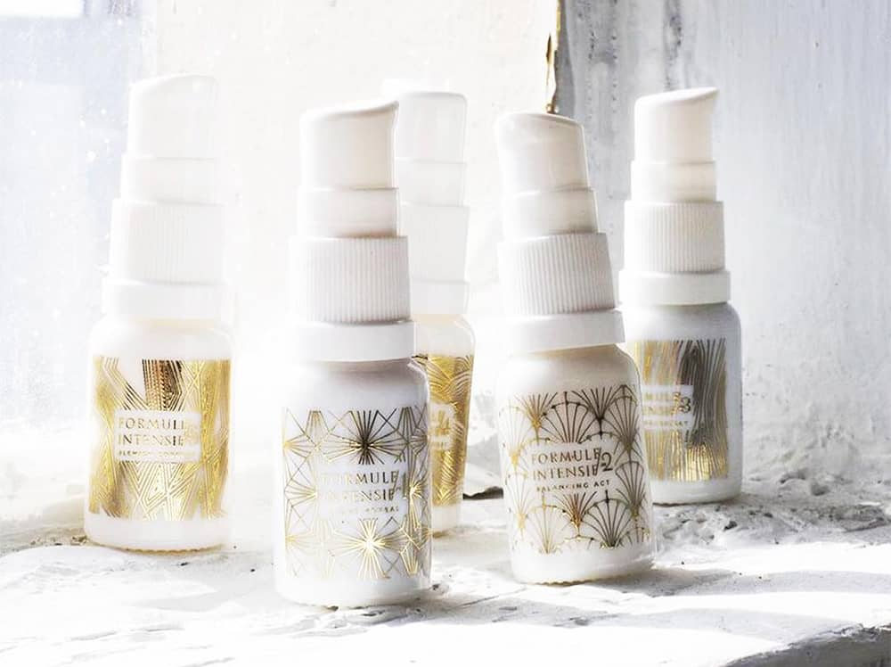 Avant skincare bottles