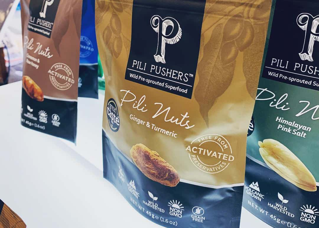 Pili Pushers bags of nuts