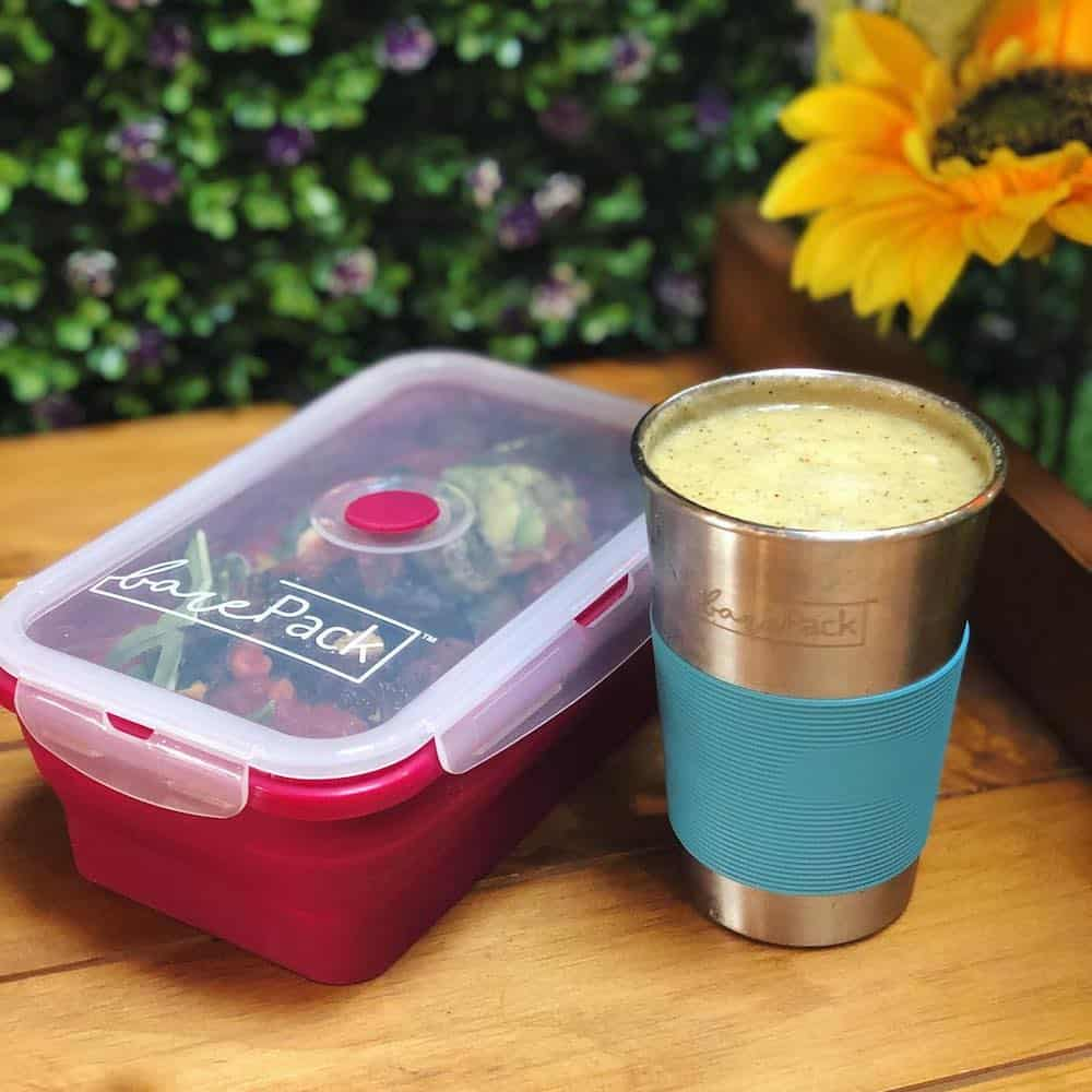 Lunch box and coffee cup