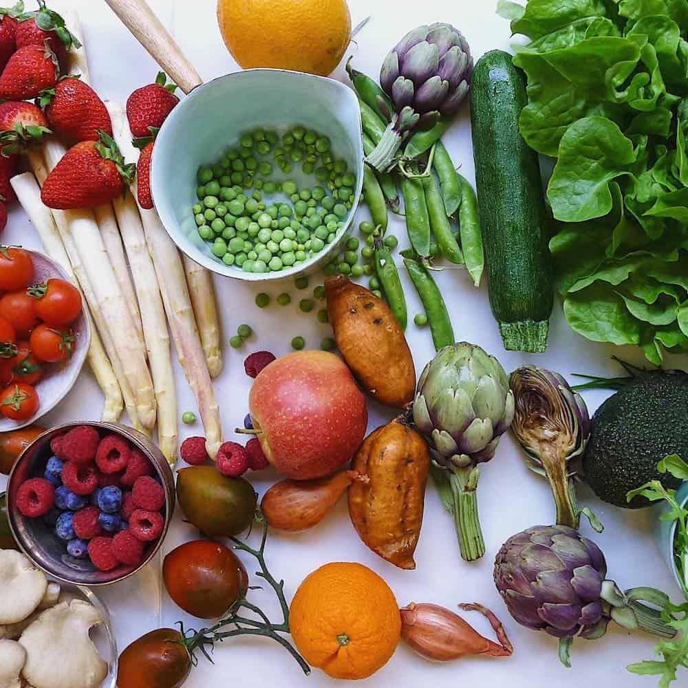 vegetable flatlay