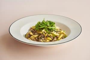 A bowl of vegan pasta from Pizza Express