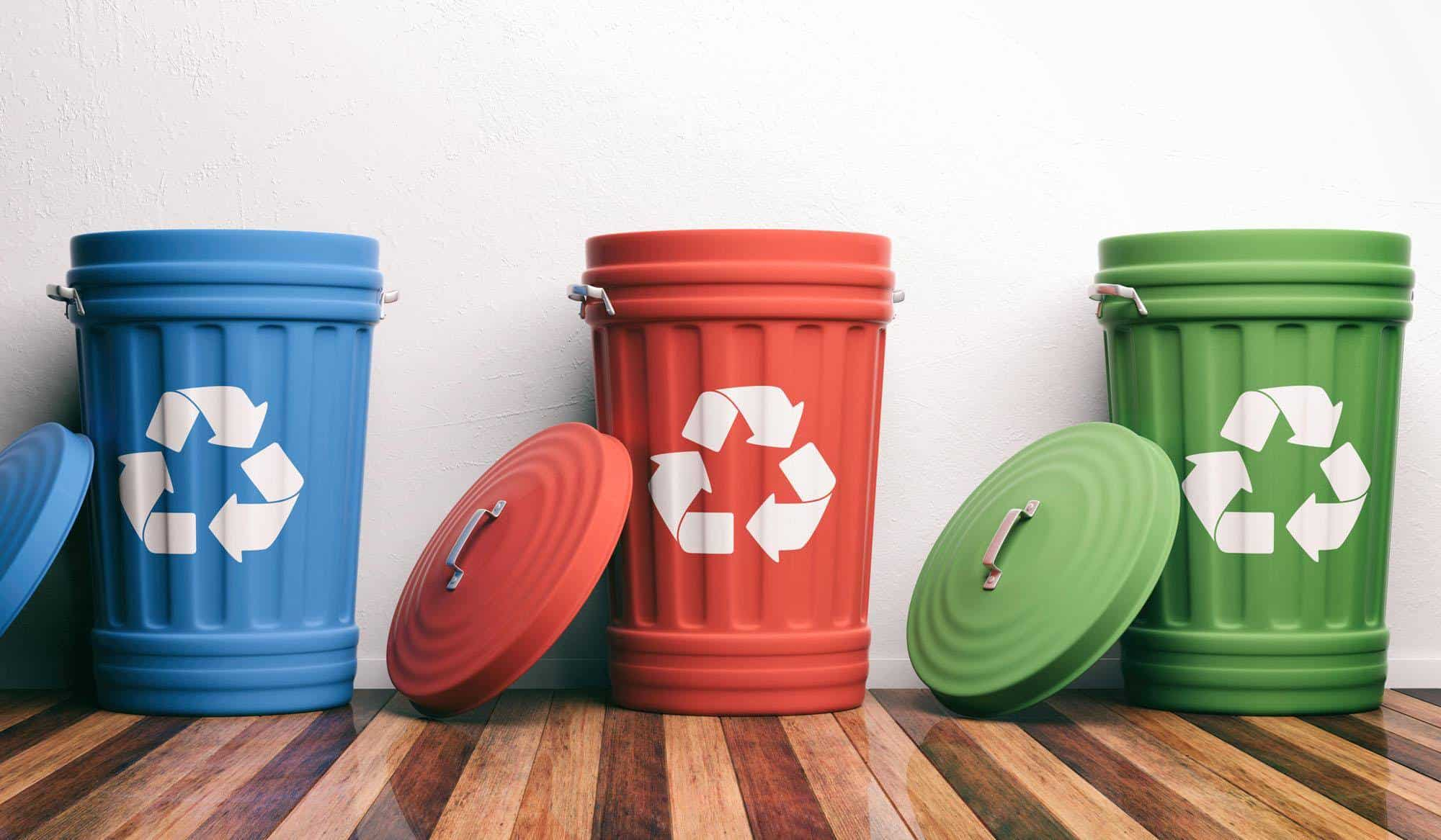 Recycling bins in Singapore