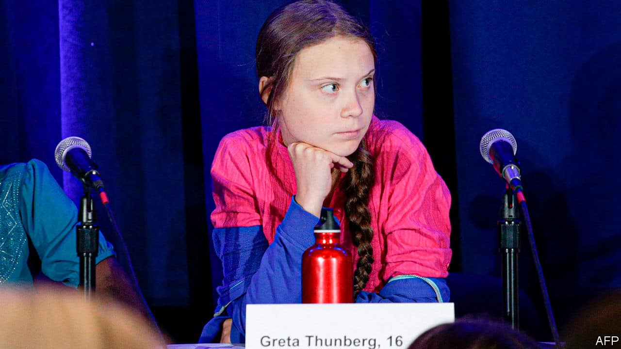 greta thunberg green is the new black