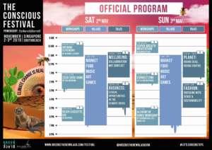 Conscious Festival Singapore Agenda 2019