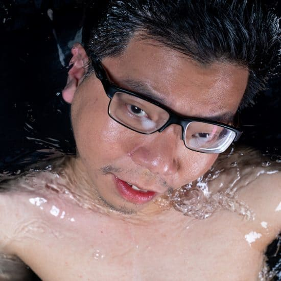 Renard Siew in water