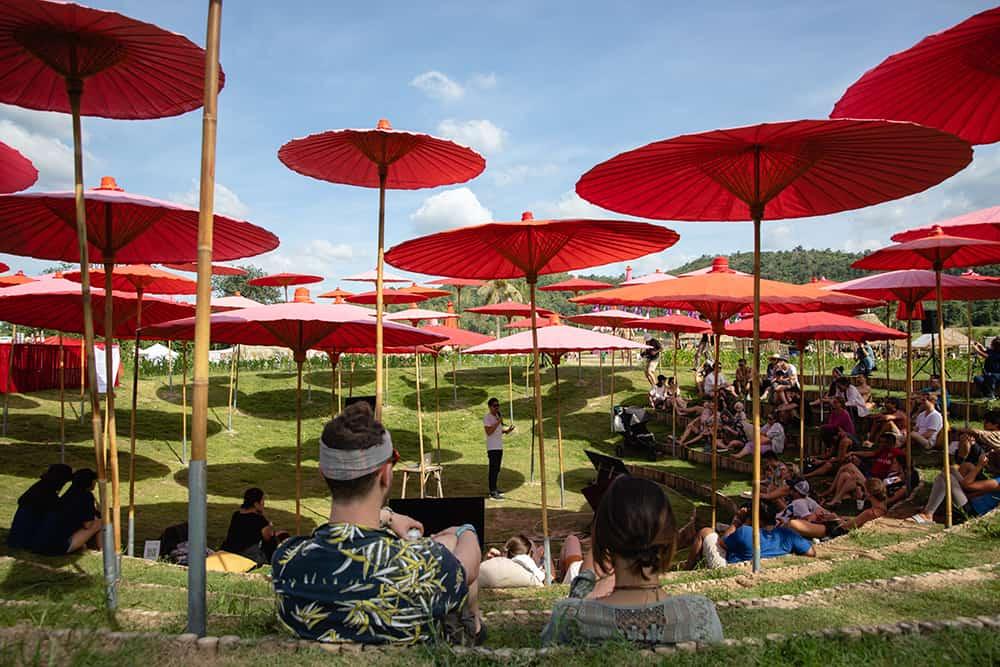 Eco pavilion at Wonderfruit