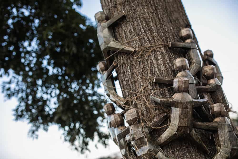 Treehugger art installation