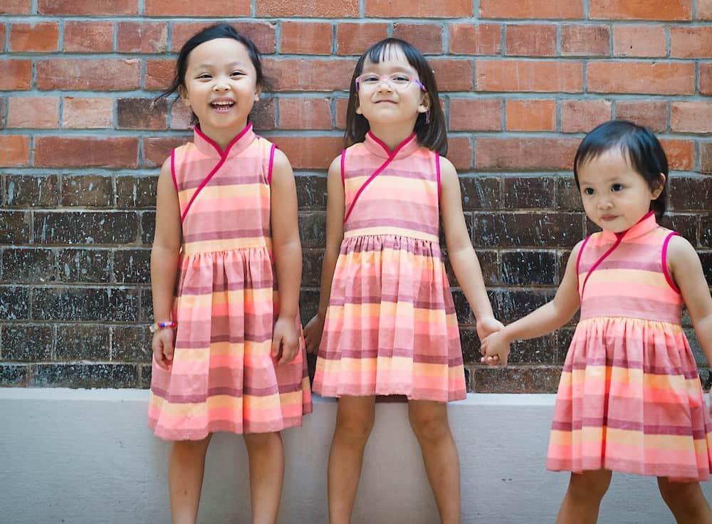 3 girls modelling Little Islanders