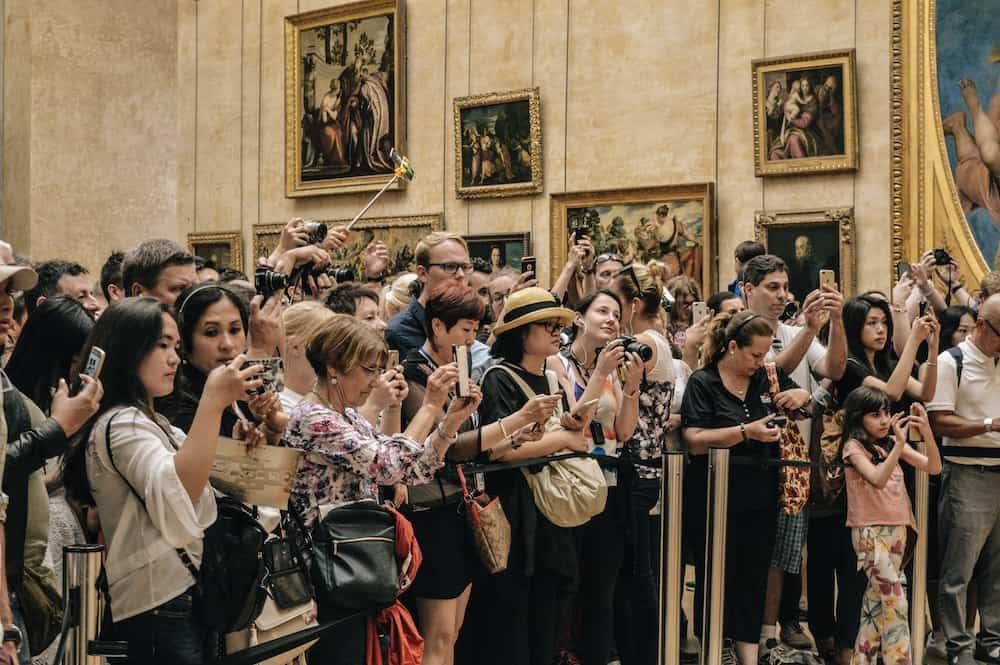 Overtourism: a crowd of tourists