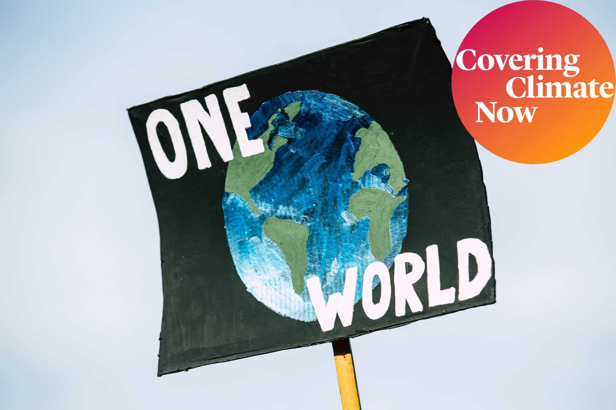 One World climate poster